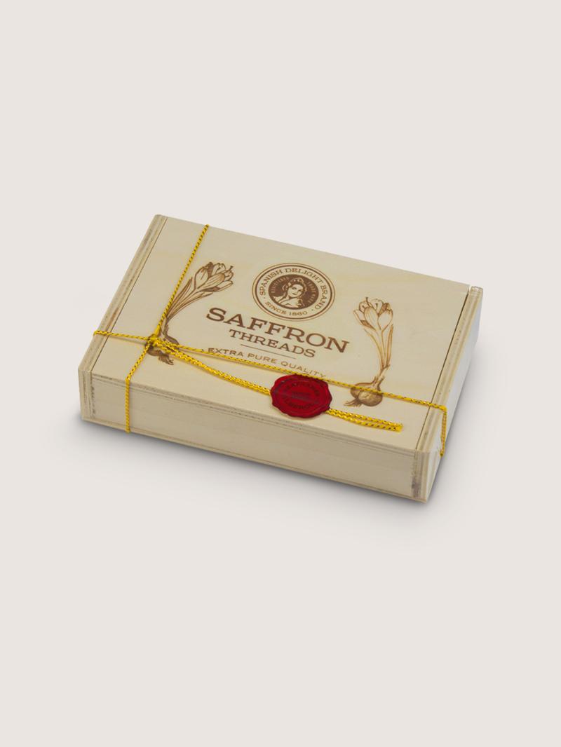 Azafran caja de madera 10g