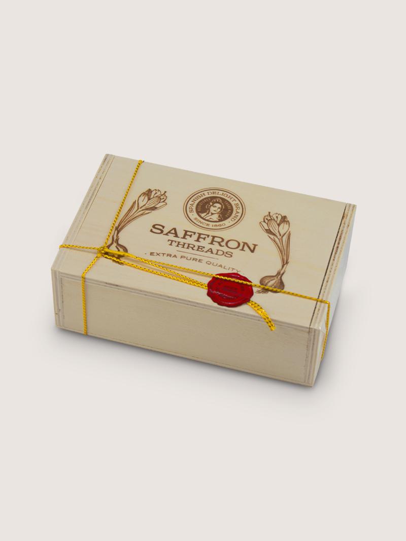 Azafran caja de madera 20g