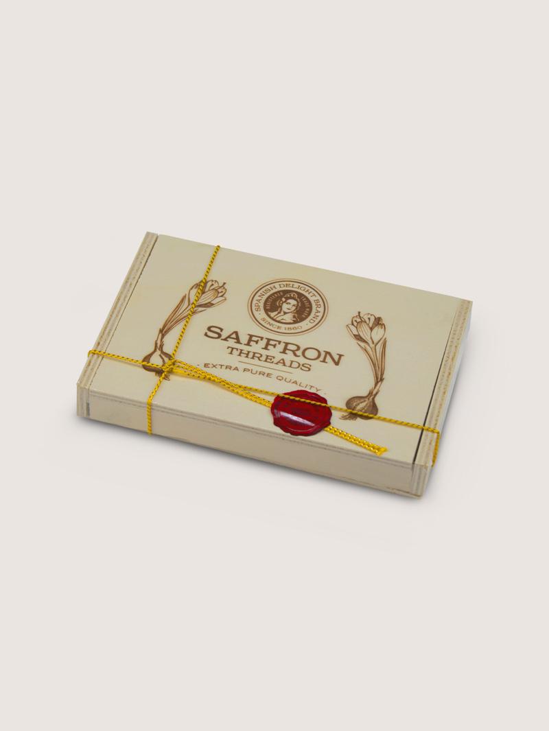 Azafran caja de madera 5g